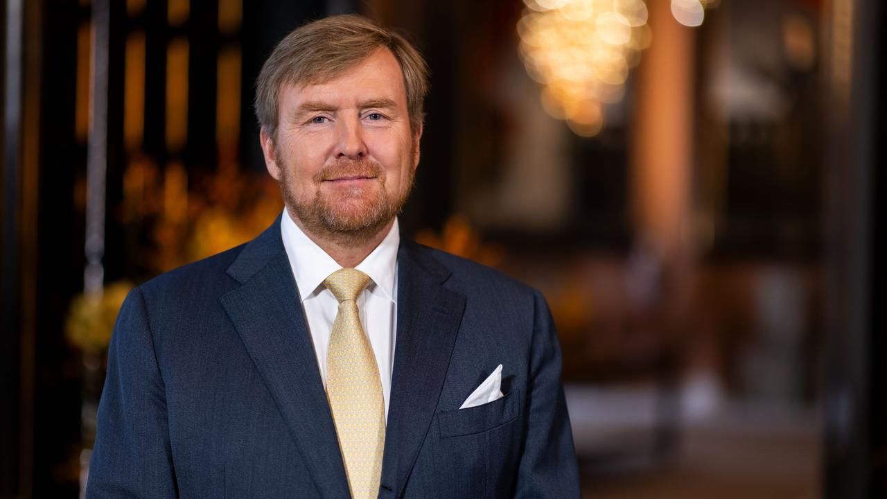 Koning Willem-Alexander en minister-president Mark Rutte in online ceremonie Four Freedoms Awards